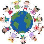 Fényképek Vegyes etnikai gyermekek