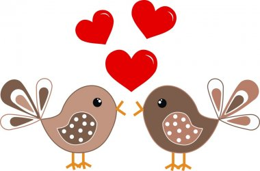 Valentines day or marriage clip art vector