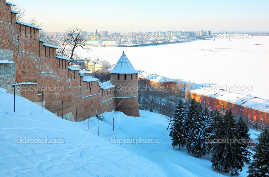 January winter view Nizhny Novgorod Russia