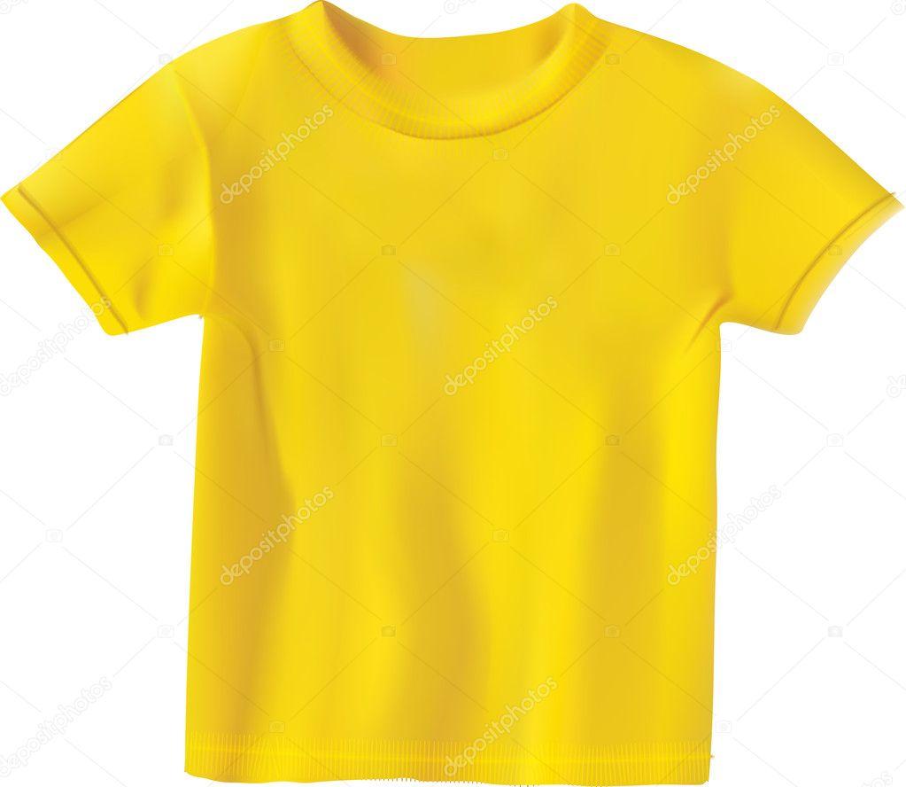 plantilla de diseño de camiseta amarilla — Archivo Imágenes ...