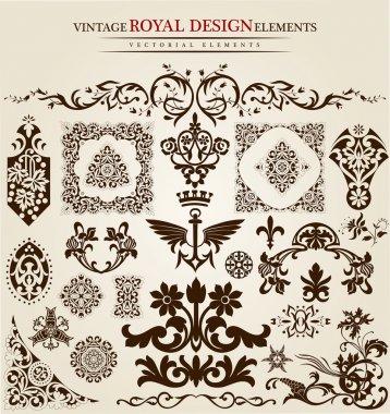 Flower vintage royal design