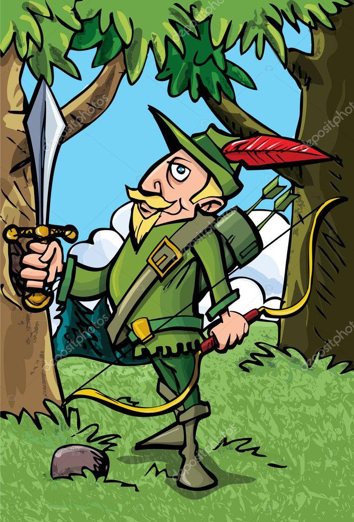 desenho de robin hood na floresta vetor de stock antonbrand 8033207