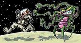 kreslené astronaout od cizince