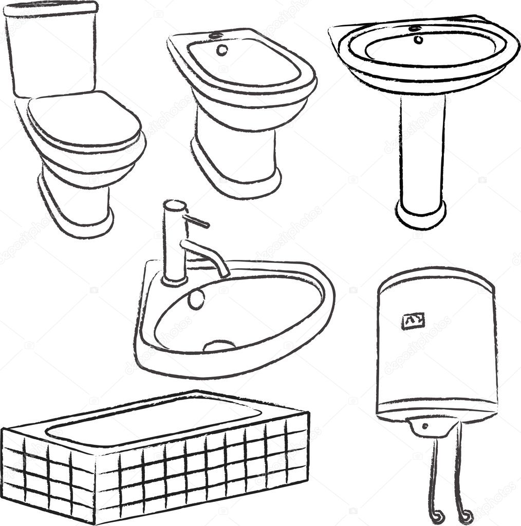 Bathroom Objects Vector Stock Vector 169 Olivera 9875072