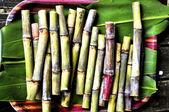 čerstvé sugarcanes