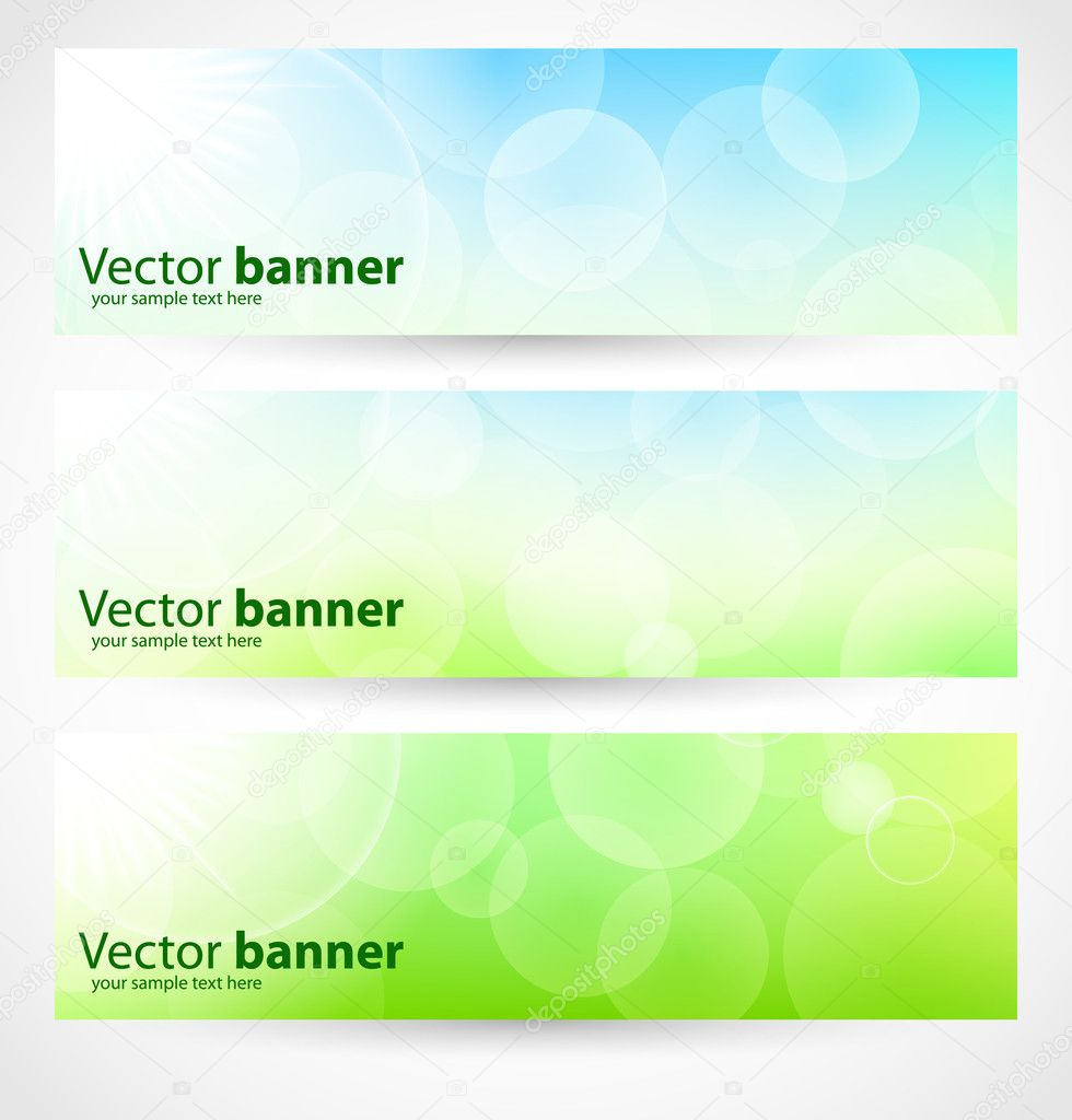 Banners and headers abstract lights