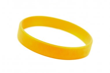 Silicone wristband, bracelet on the white