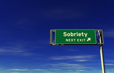 Sobriety - Freeway Exit Sign