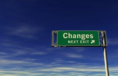 Changes Freeway Exit Sign