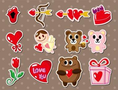 Love stickers clip art vector