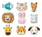 Photo cute cartoon animals