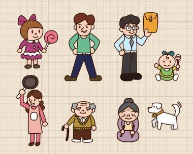 cute cartoon family