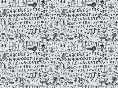 Seamless cartoon pattern clip art vector