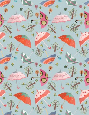 seamless umbrellas pattern