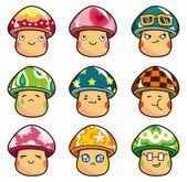 kreslený houby ikona