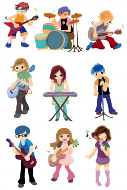 cartoon rock band icon