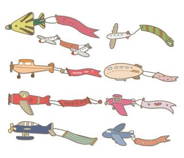 cartoon airplane banner