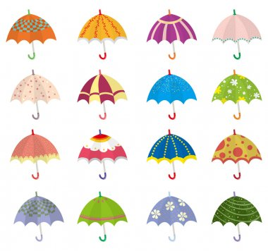 cartoon umbrella icon
