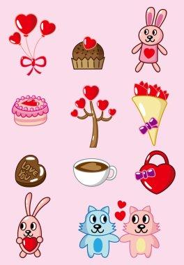Cartoon Valentine icon clip art vector