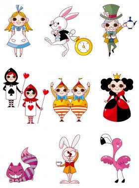 Alice in Wonderland stock vector