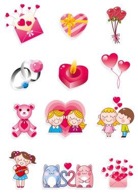 Cartoon Valentine's Day clip art vector