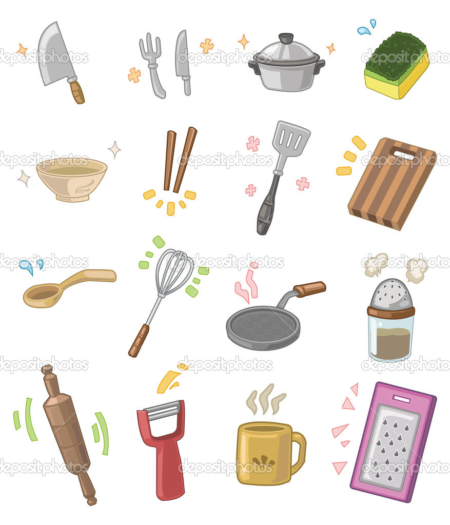 Desenho de utens lios de cozinha vetor de stock for Instrumentos de cocina profesional