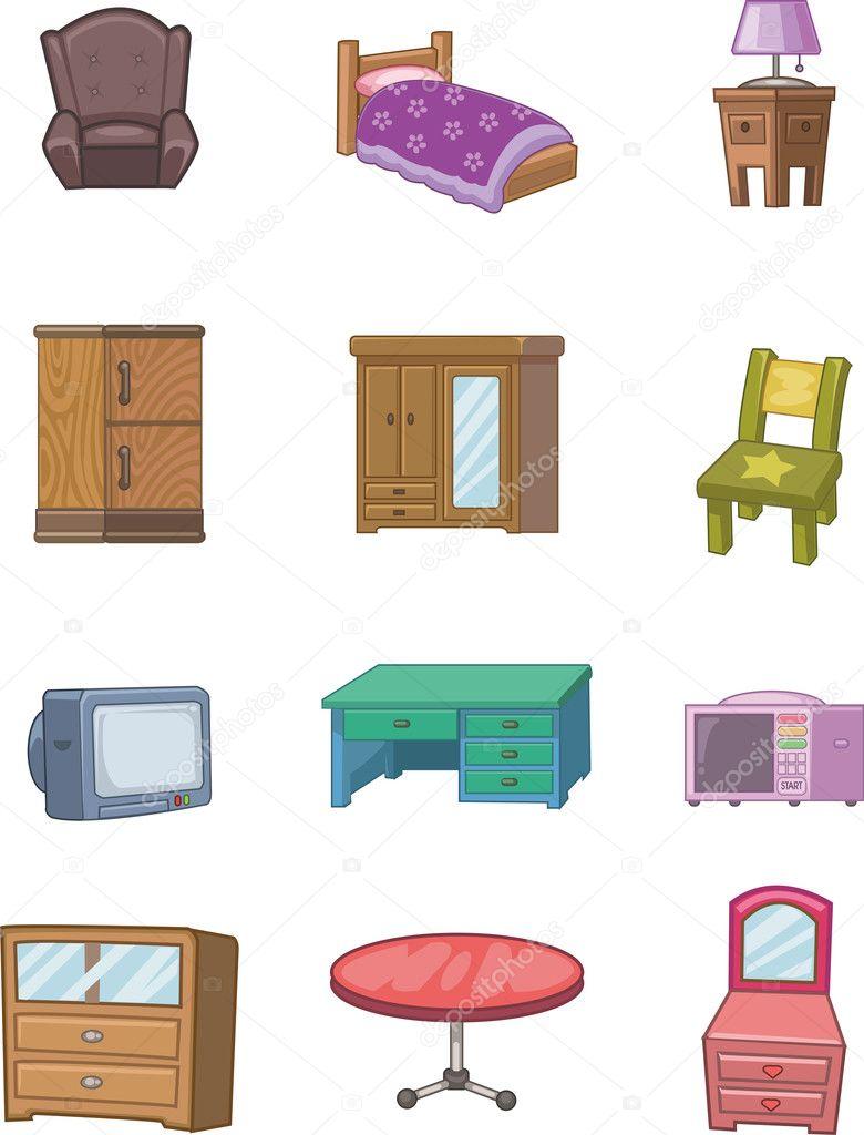 Icono de muebles de dibujos animados vector de stock for Stock de muebles
