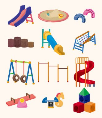 Cartoon park playground icon stock vector