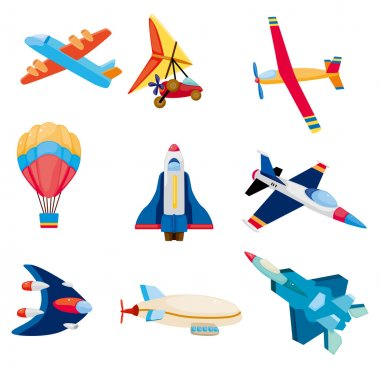 cartoon airplane icon