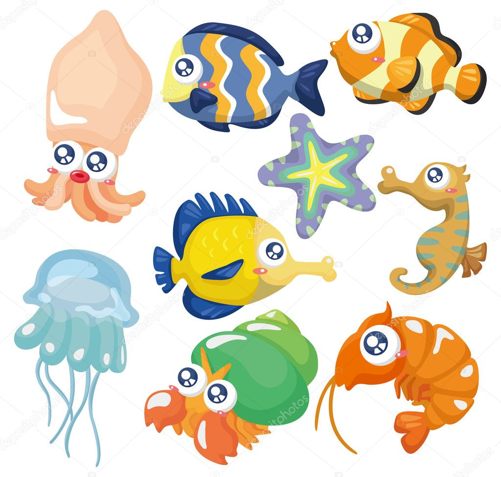 cartoon fish collection ,icon set