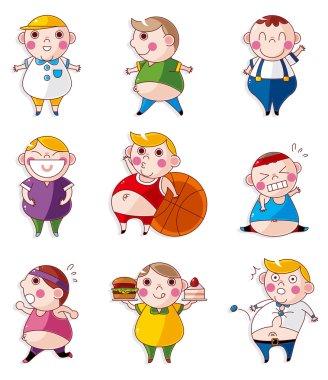 Cartoon Fat icons