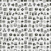 Fotografie nahtlose Web Icons Muster. Vektor-illustration