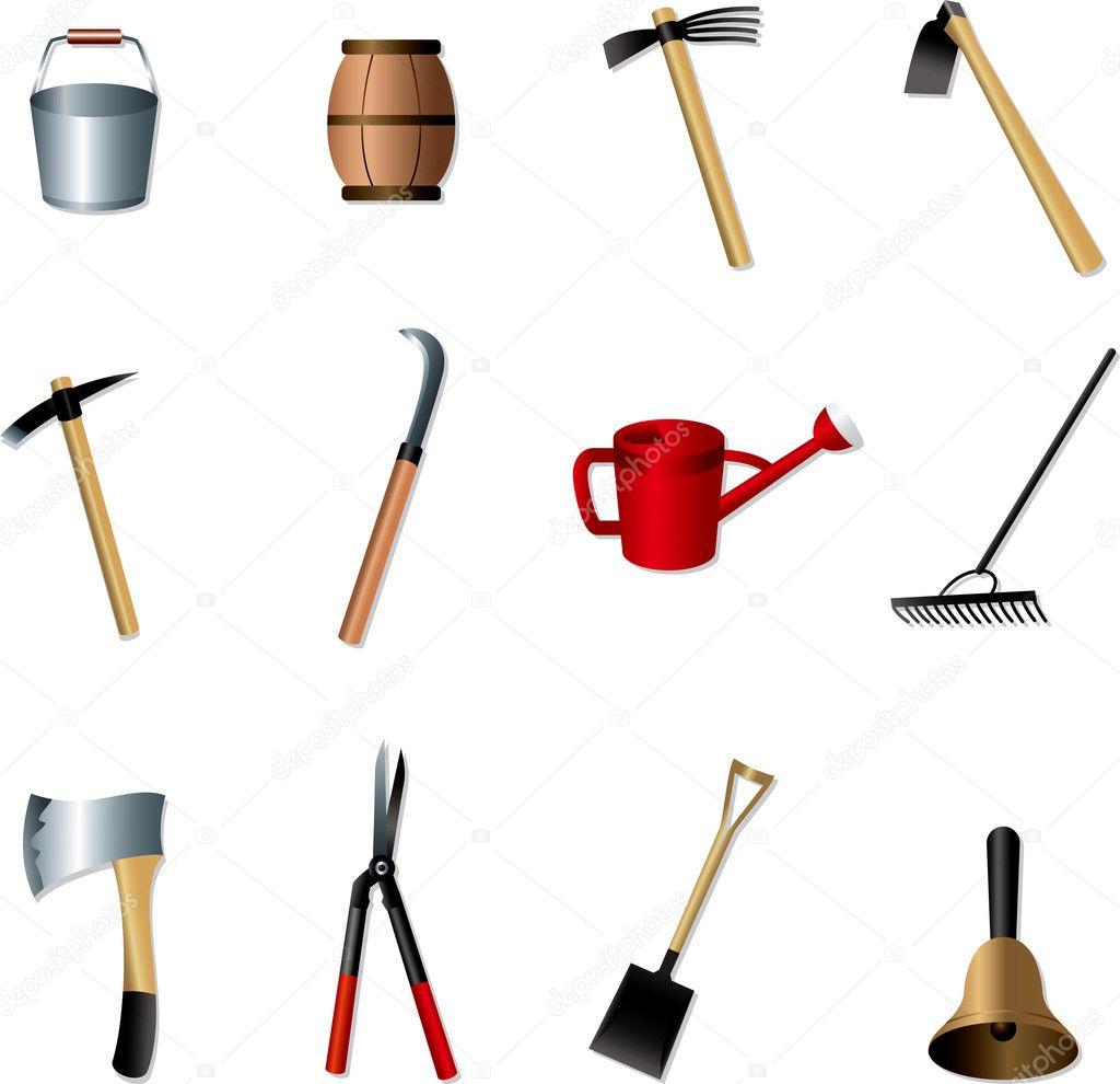 Conjunto de herramientas de jardiner a vector de stock - Herramientas de jardineria 94 ...