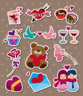 Love ,stickers clip art vector