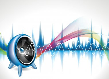 Vector illustration for a musical theme with speakers