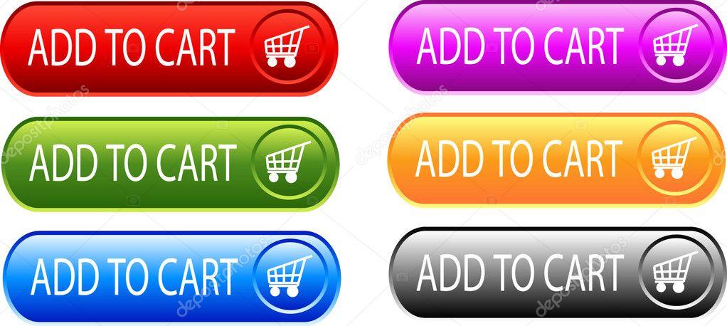 Aggiungi al carrello i pulsanti — Vettoriali Stock © Kristina2211 ... 13017742010