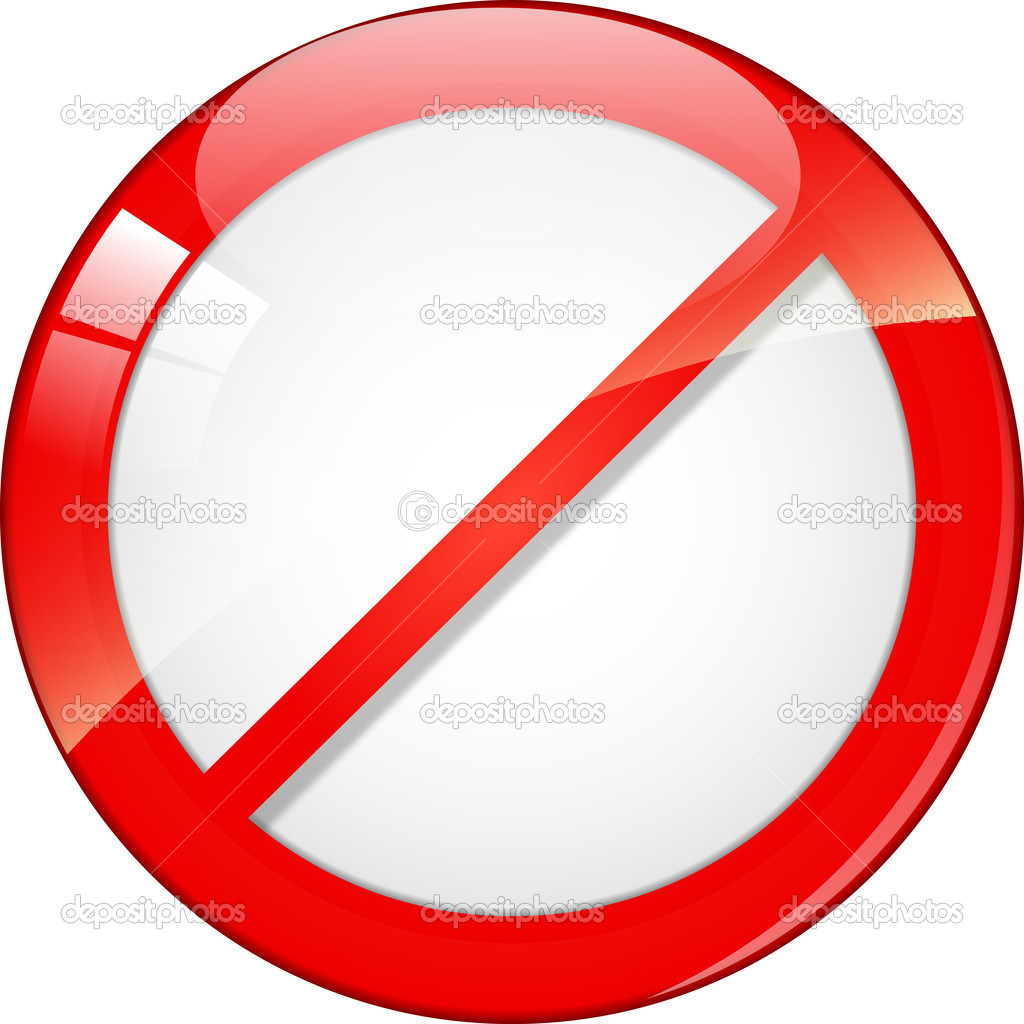 Not Allowed Sign — Stock Vector © Kristina2211 #8672439