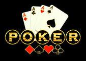 Poker game logo illustration abstract background