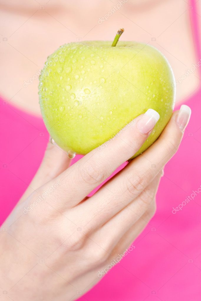 Fruit in woman's hand