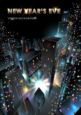 New Years Eve in downtown.