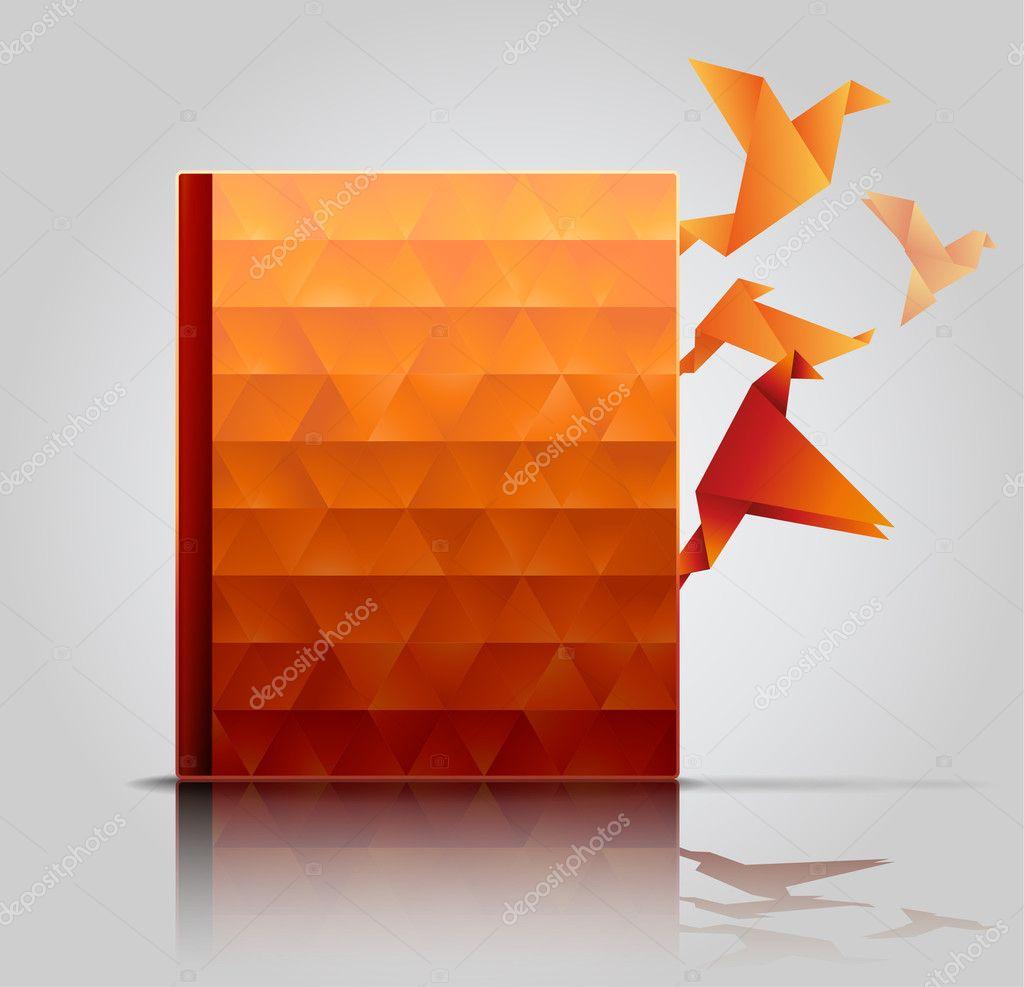 Creative Book Design Vector : Book cover creative presentation — stock vector