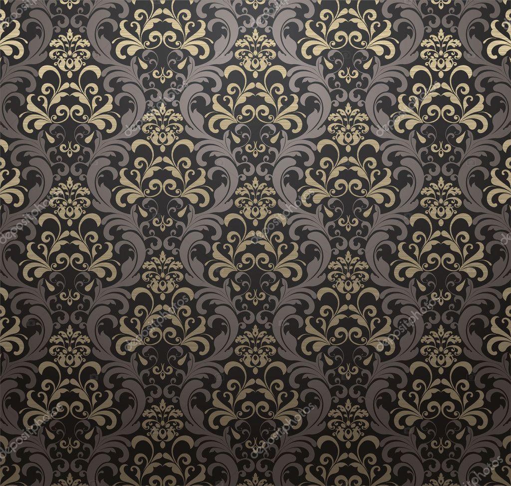 nahtlose muster tapete vintage stockvektor blinkblink. Black Bedroom Furniture Sets. Home Design Ideas