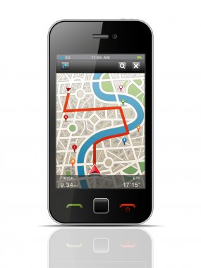 Smartphone with Navigation.