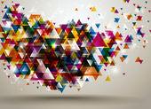 absztrakt háttér háromszög minta.