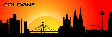 Cologne silhouette
