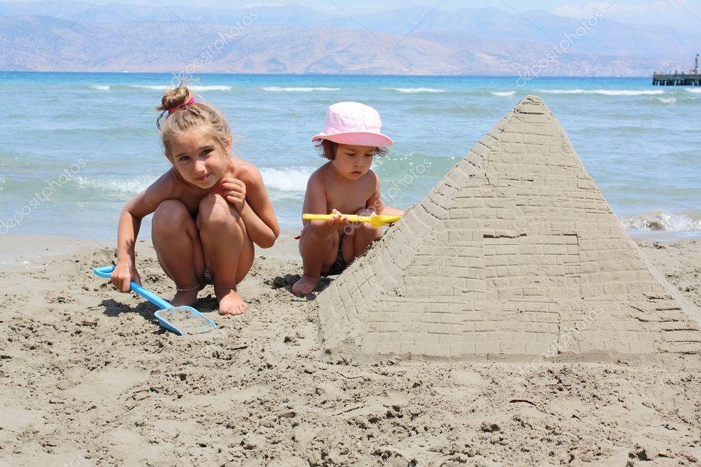 Sandy pyramid