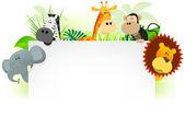 Fotografie divoká zvířata Hlavičkový papír pozadí
