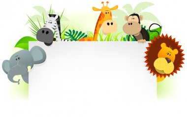 Wild Animals Letterhead Background
