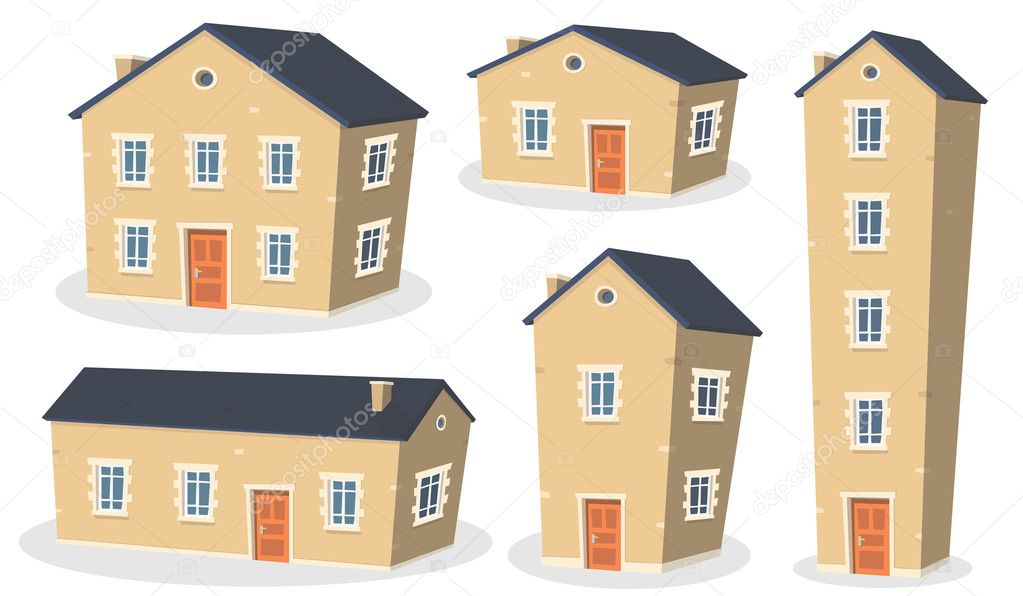 Cartoon House Set