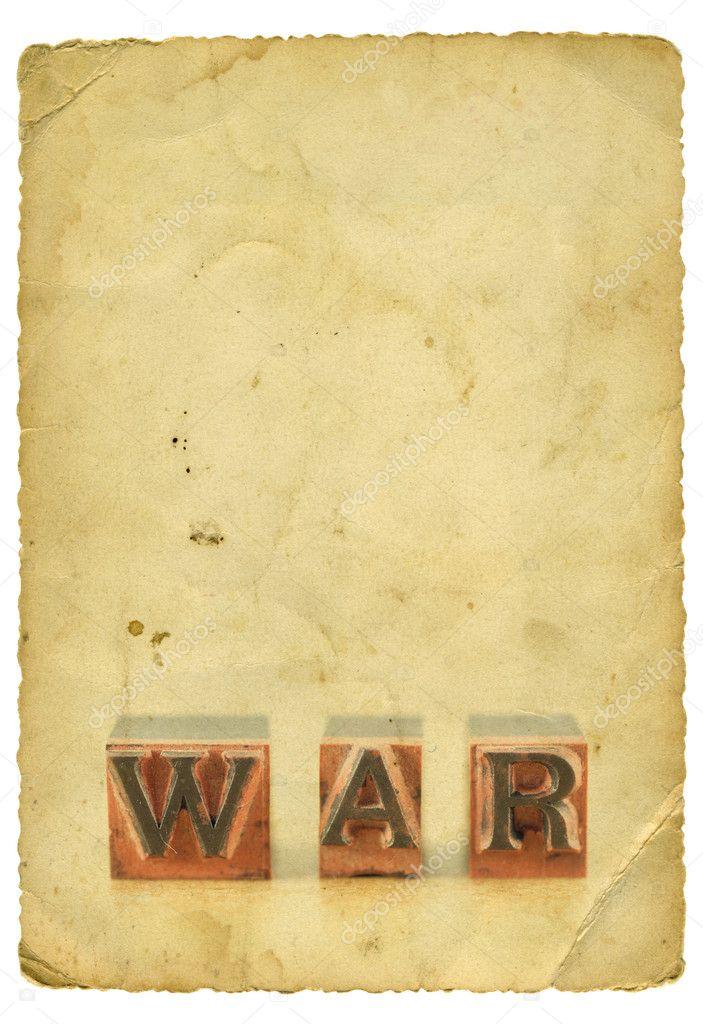 Wort Krieg Auf Altes Papier Stockfoto Viki2win 8125130